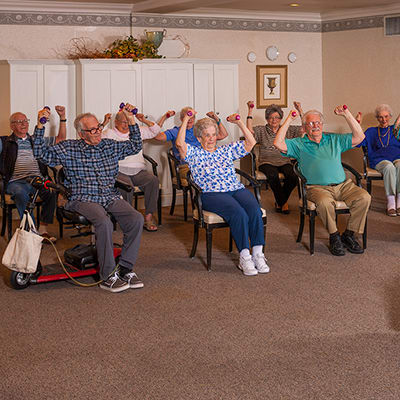 Life enrichment at Lakeview Memory Care Community