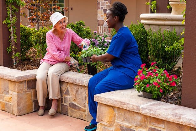 Caregivers at Koelsch Communities senior living communities provide outstanding service