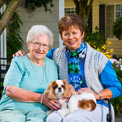 We are pet friendly here at Rock Creek at The Park Memory Care Community