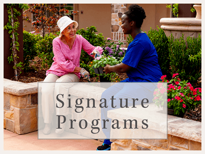 Amber Creek Memory Care Community's signature programs