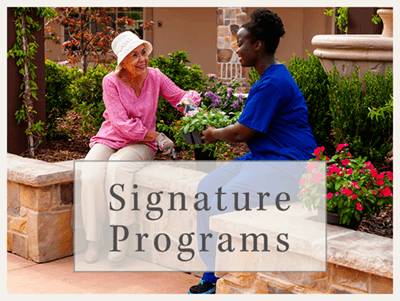 Lakeview Memory Care Community's signature programs