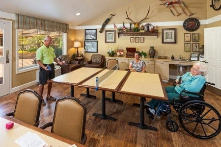 Game Room At Senior Community In Mesa Arizona