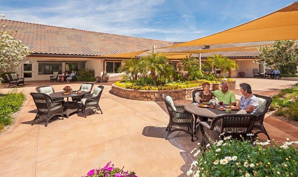 Patio At Senior Living In Mesa Arizona