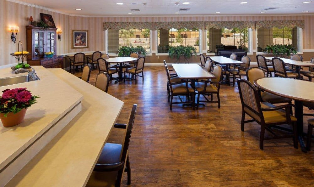 Spacious Dining At Senior Living In Mesa Arizona