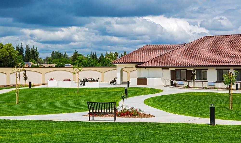 Backyard At Senior Living In Fresno California