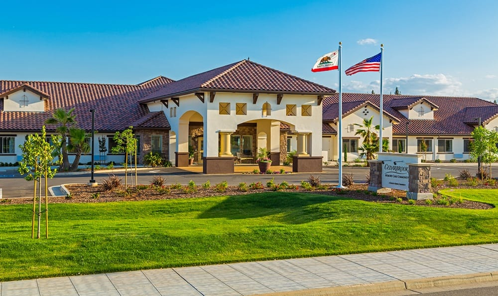 Flagpole At Senior Living In Fresno California