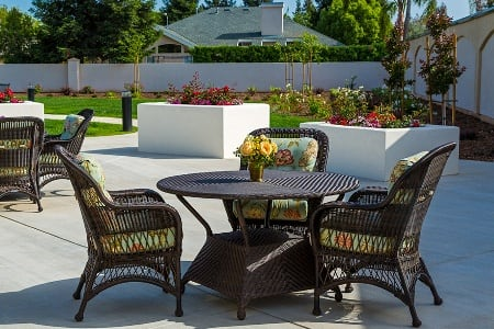Patio At Senior Community In Fresno California