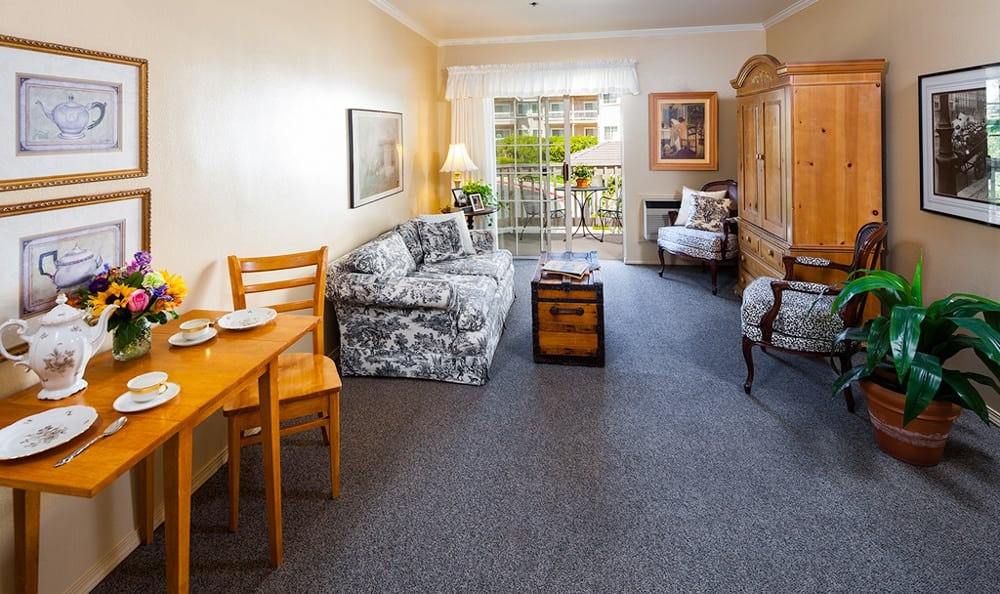 An apartment at our charming senior living community in Victorville