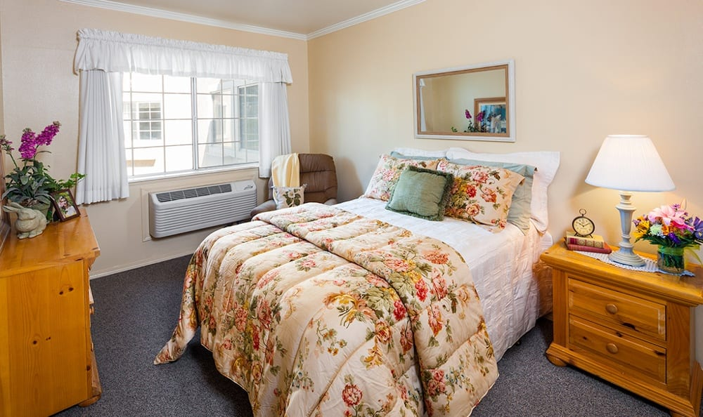 One of the bedrooms at our Victorville, CA senior living community