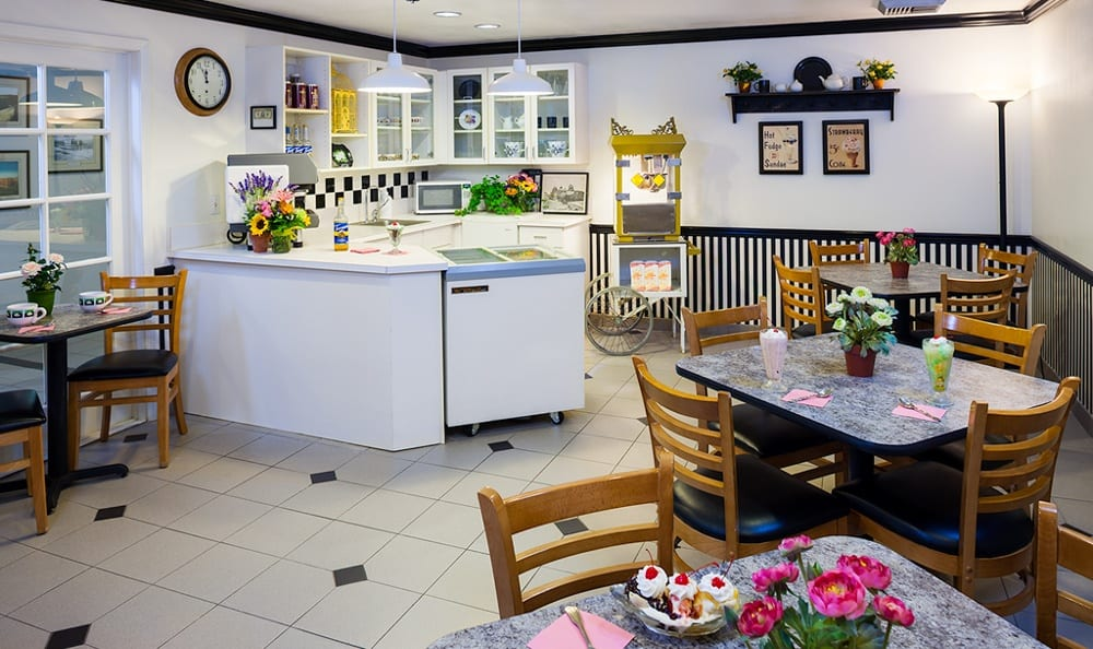 A kitchen at our Victorville senior living community