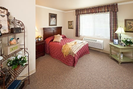 Bedroom At Senior Living Community In Coeur D Alene