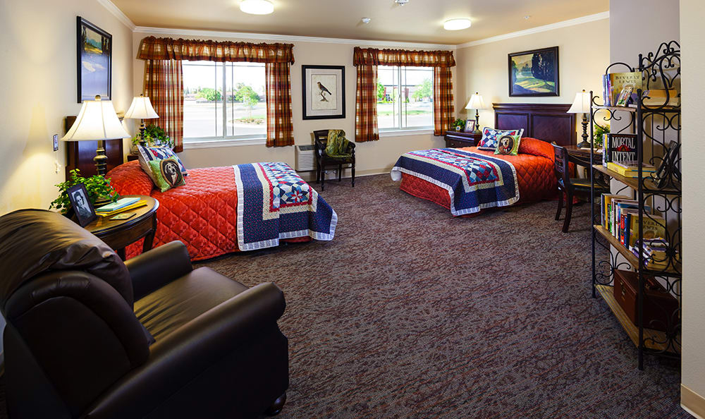 Bedroom At Senior Living In Coeur D Alene