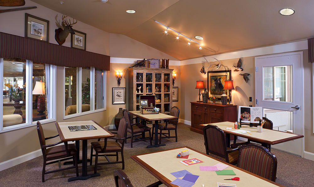 Gameroom At Senior Living In Coeur D Alene