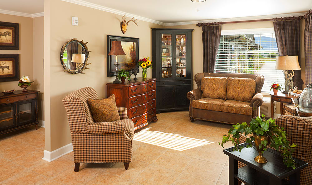 Livingroom At Senior Living In Coeur D Alene