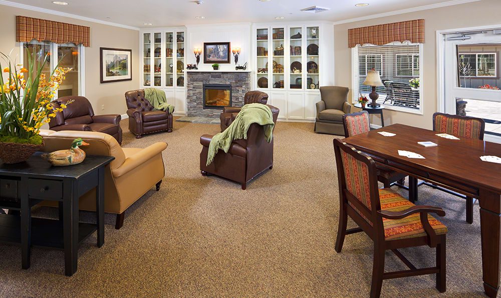 Lobby At Senior Living In Coeur D Alene