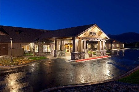 Night Time At Senior Living Community In Coeur D Alene