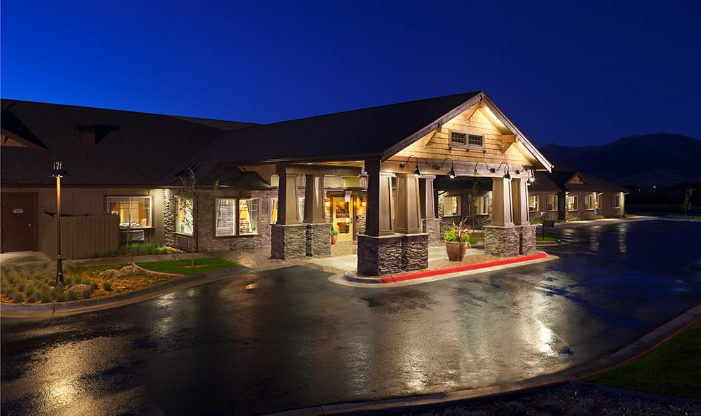 Night Time At Senior Living In Coeur D Alene