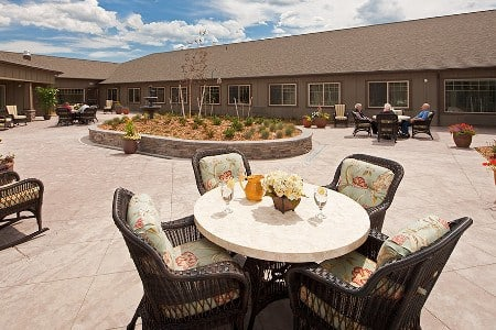 Big Sky Patio At Bozeman Montana Memory Care Community