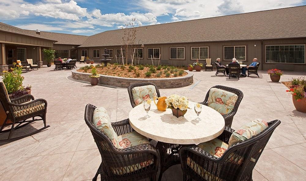 Big Sky Patio At Bozeman Montana Memory Care