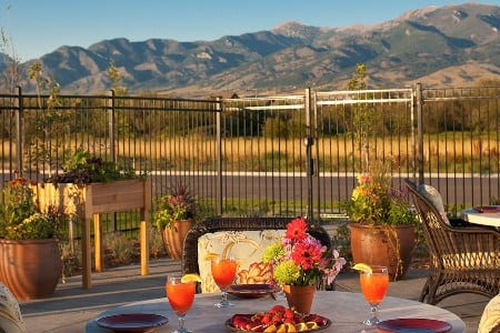 Bozeman Montana Memory Care Community Patio