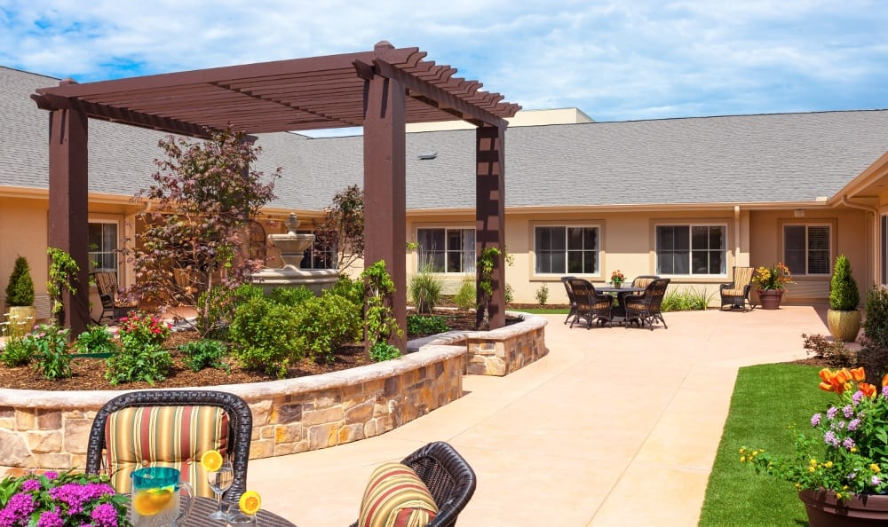 Patio At Senior Living In Plano Tx