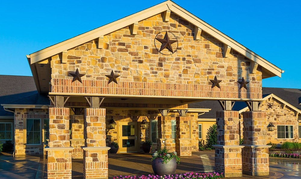 Entrance To Memory Care Facility In Fort Worth Texas