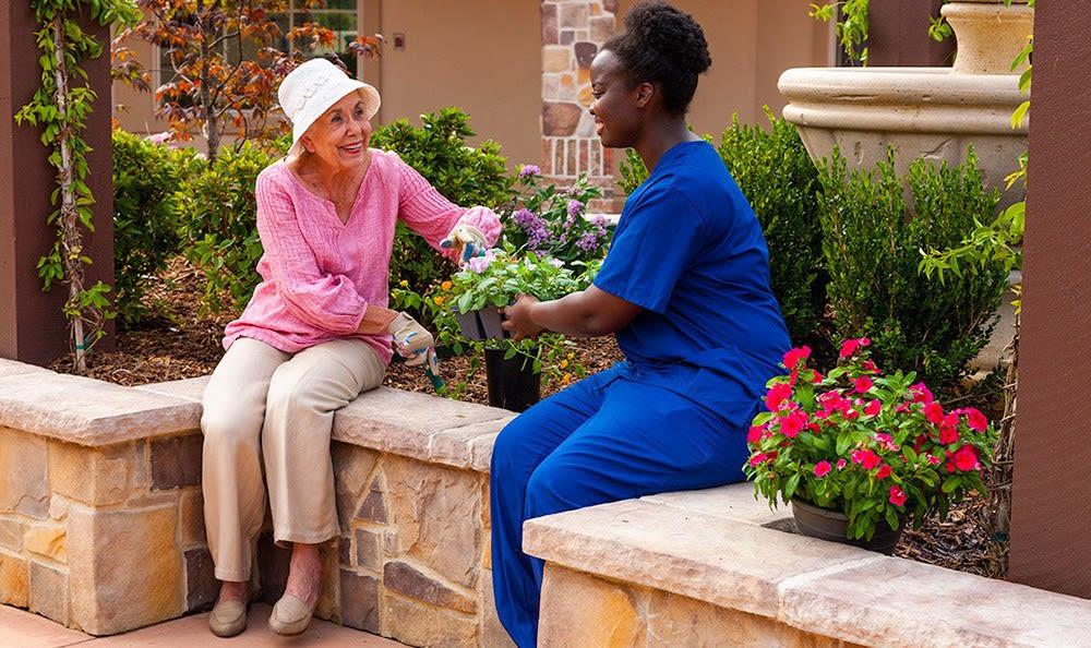 Gardening Caregiver Memory Care Fort Worth