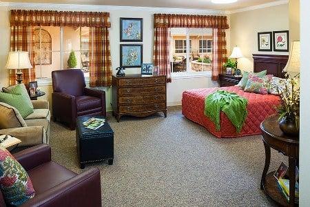 Arlington Memory Care Community Bedroom