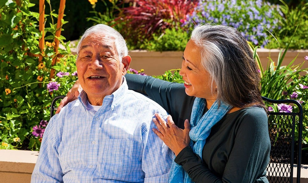 Laughing Couple Arlington Tx Memory Care