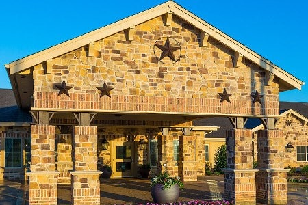 Entrance To Memory Care Community In Frisco Texas
