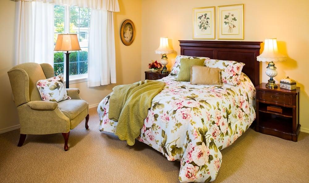 Bedroom At Senior Living In Longview Washington