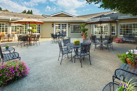 Patio At Senior Living Community In Longview