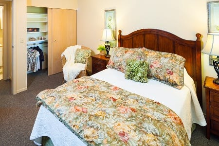 Bedroom At Vancouver Washington Senior Living Community
