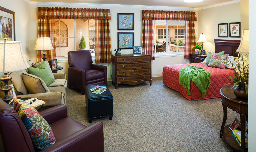 The senior living facility in Vancouver, WA, resident living area.