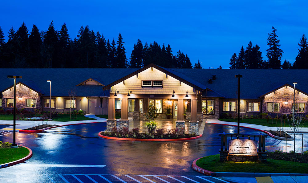 The senior living facility in Vancouver, WA, exterior view.