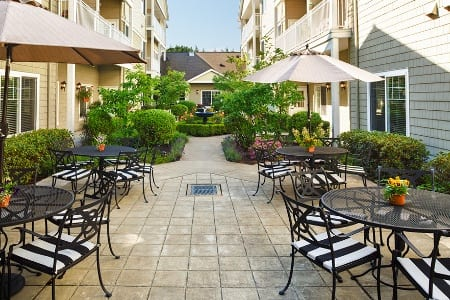 Patio At Our Longview Senior Community