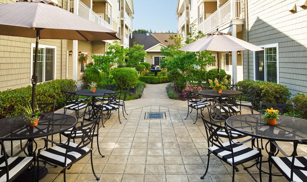 Patio At Our Longview Senior Living Community