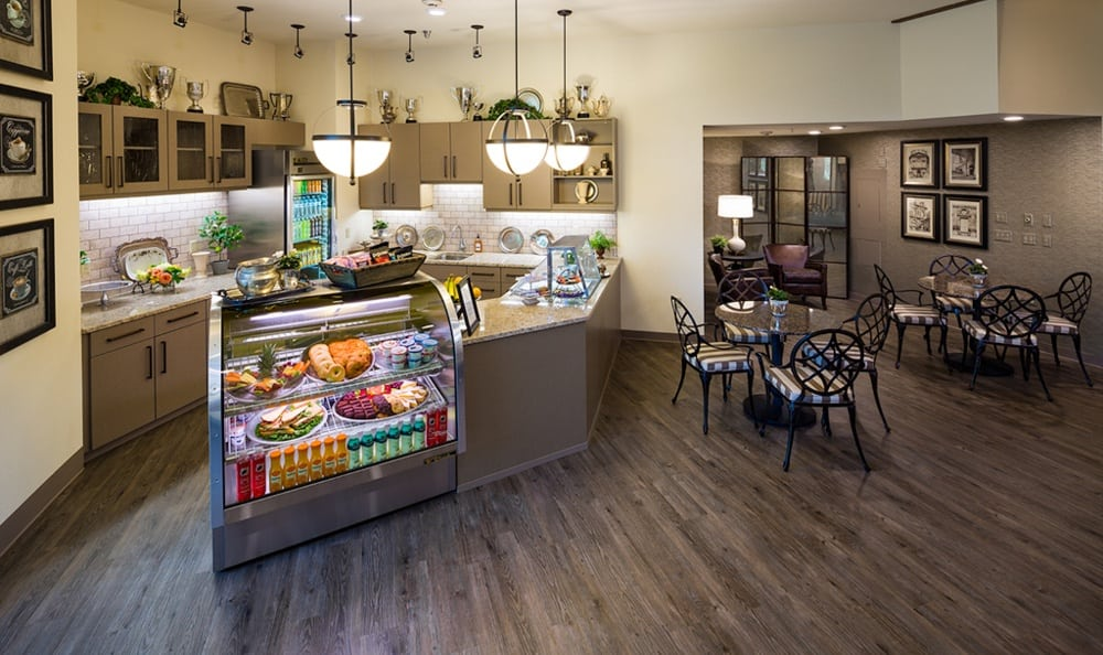 The community room at Madison House features a beautiful kitchen.
