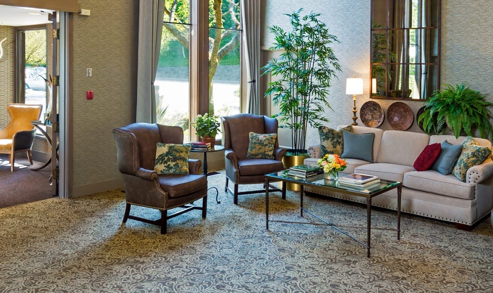 A comfortable sitting area at Madison House.