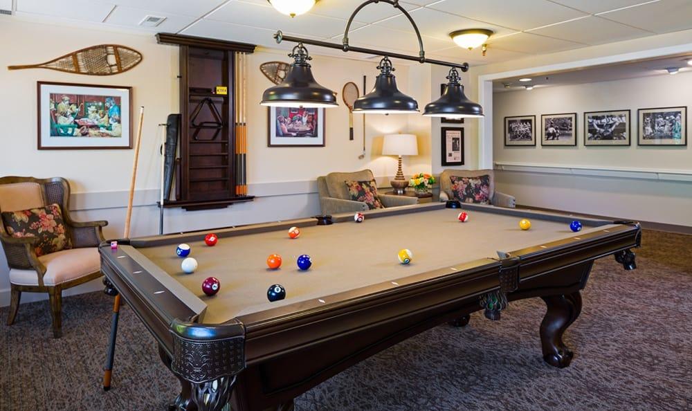 The billiard room at Madison House.