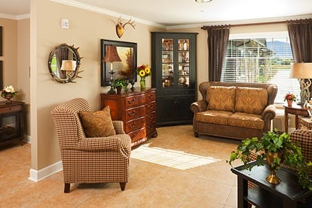 Living Room At Waverly Inn Senior Living Community