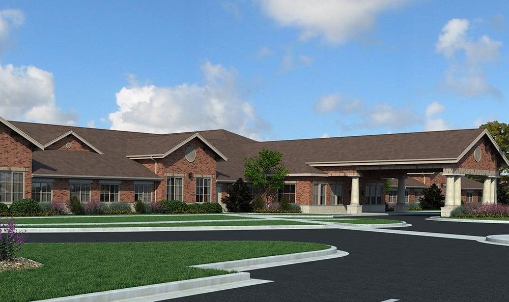 Rendering Northbrook Illinois Senior Living Community