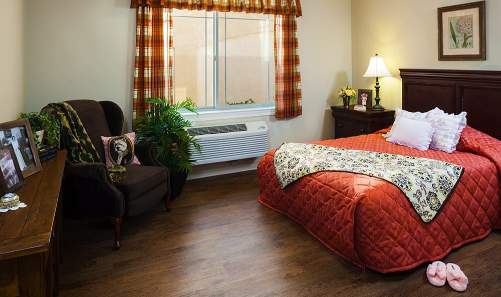 Spacious Bedroom At Our Northbrook Illinois Senior Living Community