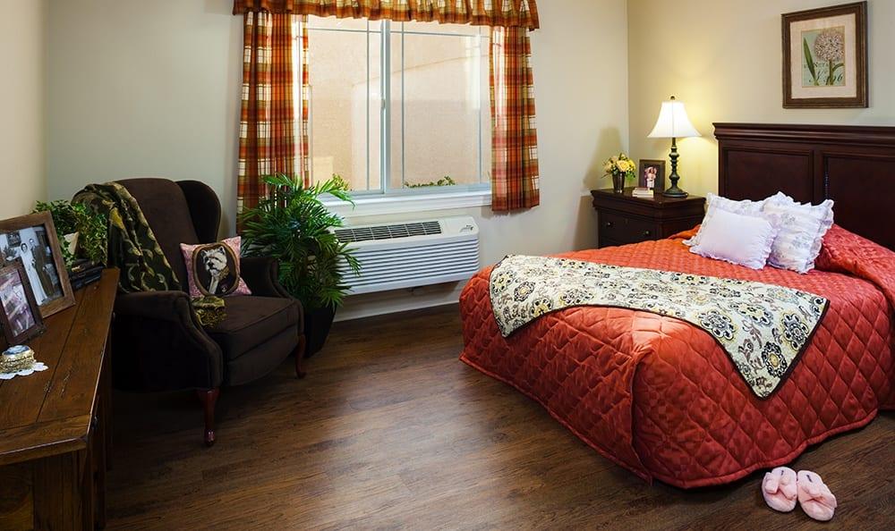 Spacious Bedroom At Our Bloomingdale Senior Living Community
