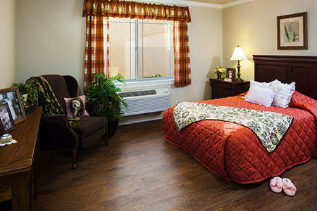 Spacious Bedroom at Maple Glen Memory Care Community