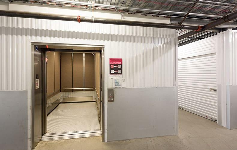 Elevator at storage facility in Lakewood, CA.