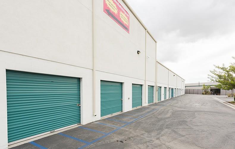 Exterior units at storage facility in Lakewood, CA.