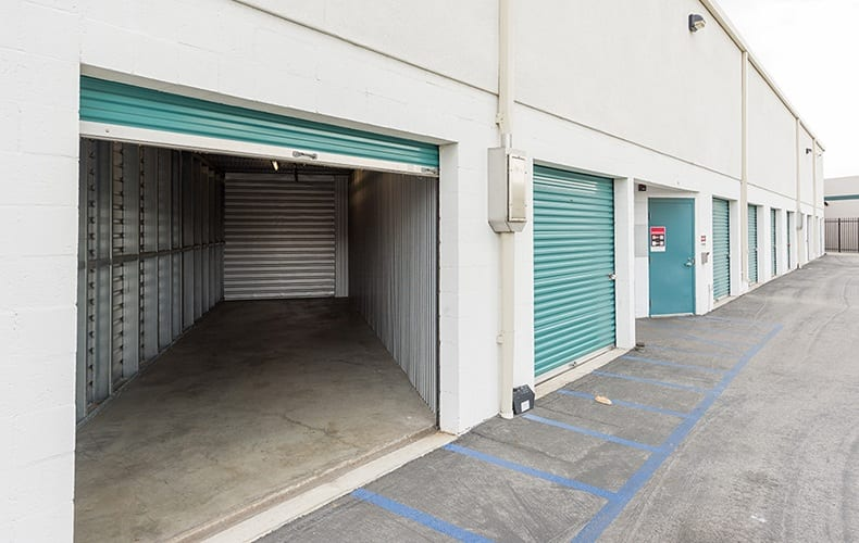 Exterior unit opened at storage facility in Lakewood, CA.
