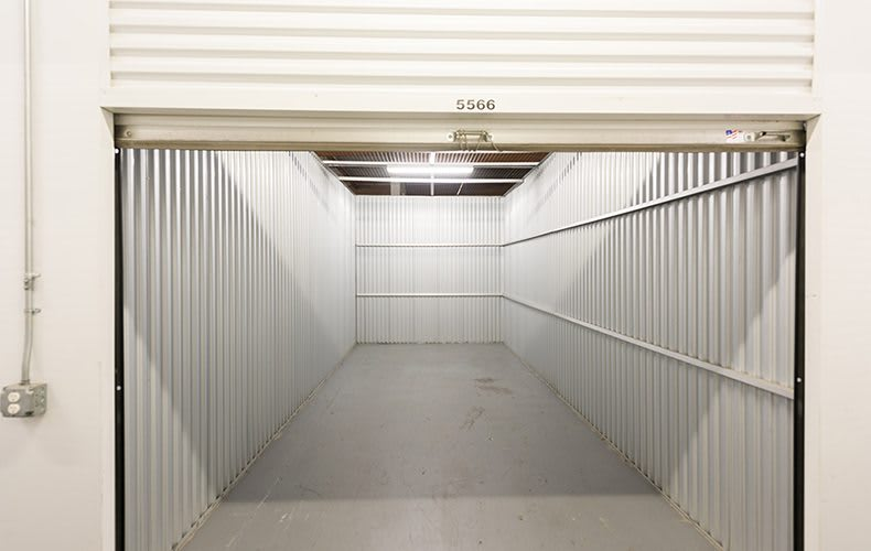 Interior unit opened at storage facility in Lakewood, CA.