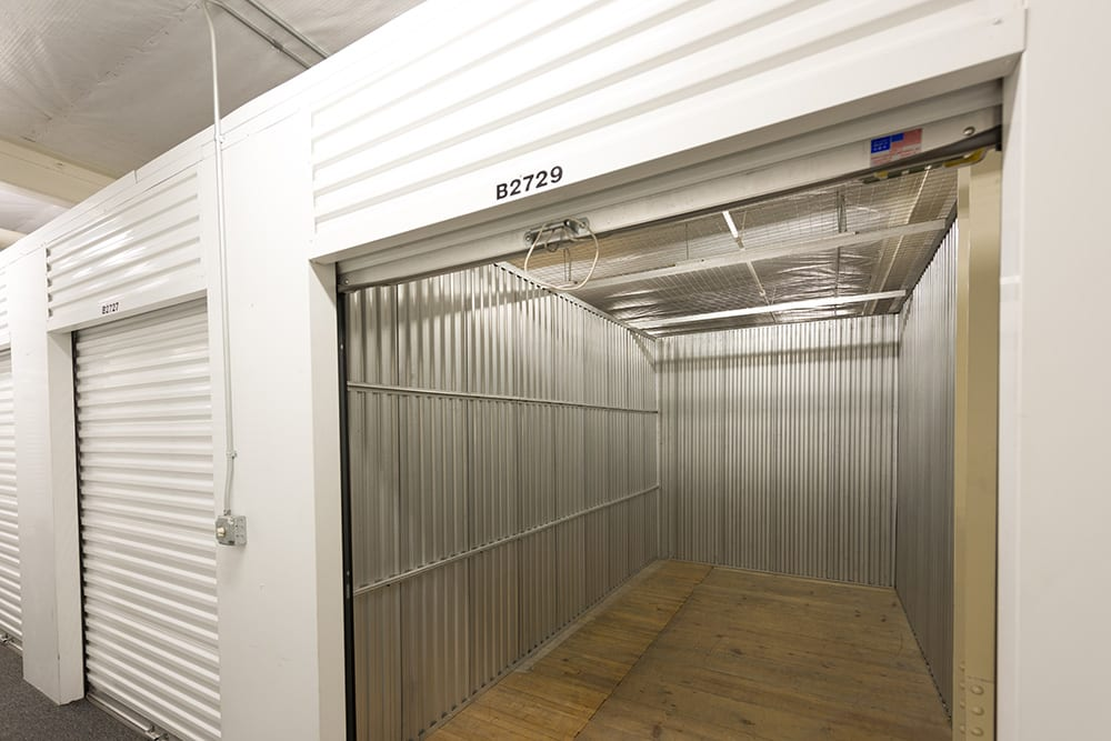 Interior unit at self storage facility in Pasadena, CA.